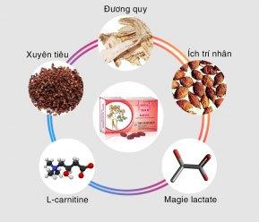 5 thành phần tạo nên sản phẩm Hồng Mạch Khang